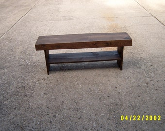 Wooden Bench, Bench, Coffee Table, Dining Table, Entry Table, Wood Bench, Hallway Bench, Furniture, TV Stand, 48""