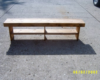 wooden bench recycled 6' salvaged farm house custom made