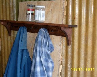 coatrack shelf entryway recycled custom made