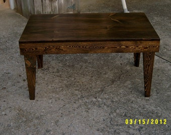 bench coffee table reycled salvaged green