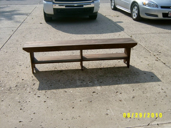 5' wooden bench extra support country style differant colors custom made to order