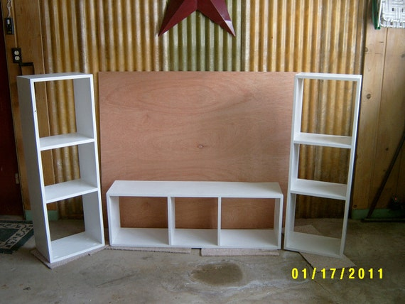 Bookcase Cubbies Bench Shelves Storage Furniture