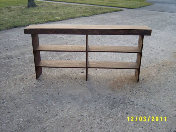 salvaged, reclaimed, console  entryway table sofa table bench recycled material custom made farmhouse style