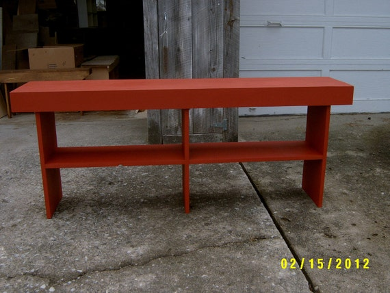 "wooden bench 5' 24"" tall farmhouse style"