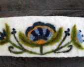 felted cuff bracelet with flowers