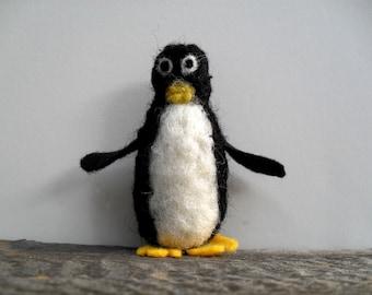 Catnip Cat toy  penguin, needle felted