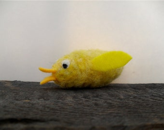 Cat toy catnip chick needle felted