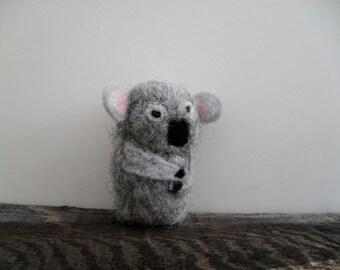 Cat toy catnip Koala bear, needle felted