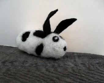 cat toy catnip bunny rabbit needle felted