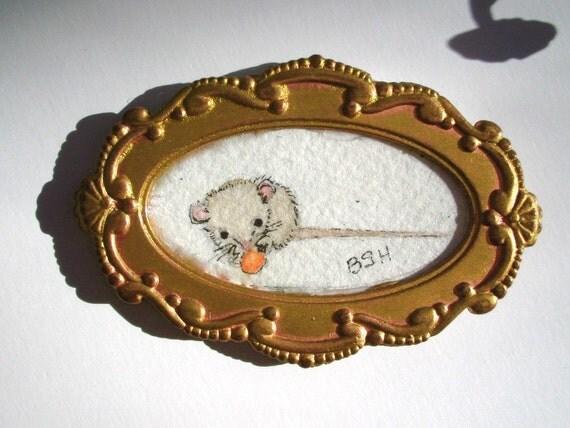 watercolor original mouse magnet
