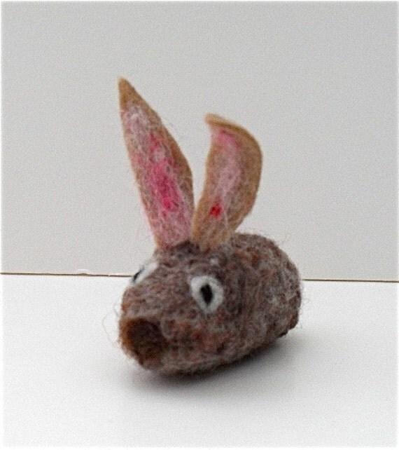 cat toy catnip rabbit needle felted