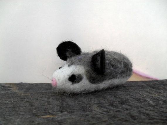 Cat toy catnip possum needle felted