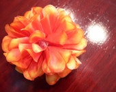 Orange Marigold Barrette