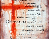 """The Prayer of St. Francis (4"""" x 6"""")"""