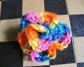 Versatile Neon Rainbow Crocheted Flower