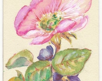 Victorian style  Art Card ACEO Original watercolor