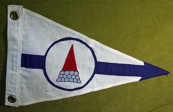 Vintage Canvas Sailing Nautical Flag Keezer Co. Plaisto NH
