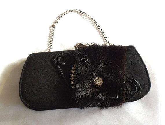 Black Handbag Formal Evening Clutch Formal By HopscotchCouture