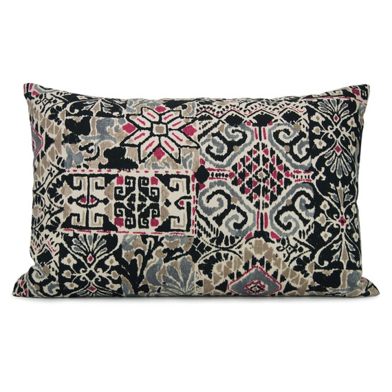 SALE 12x18 lumbar ikat pillow case cushion cover / Ethnic