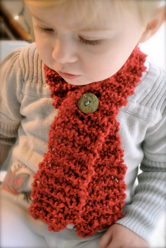 Items similar to Toddler Baby Scarf with Button,