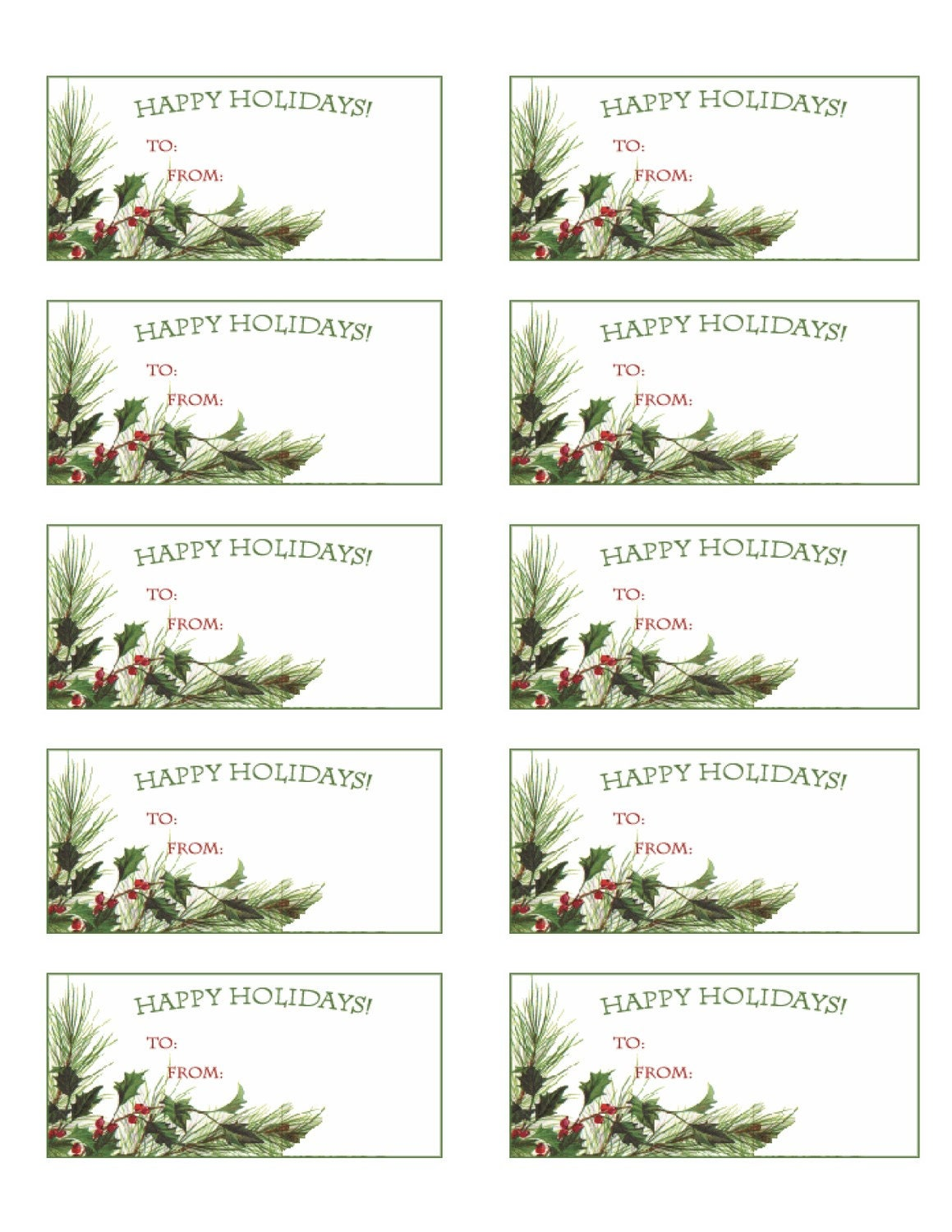 It is a photo of Punchy Printable Christmas Labels Pdf