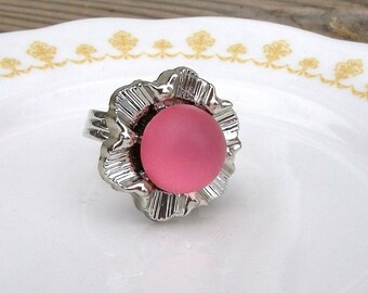 SALE Pink Frosted Glow Ring