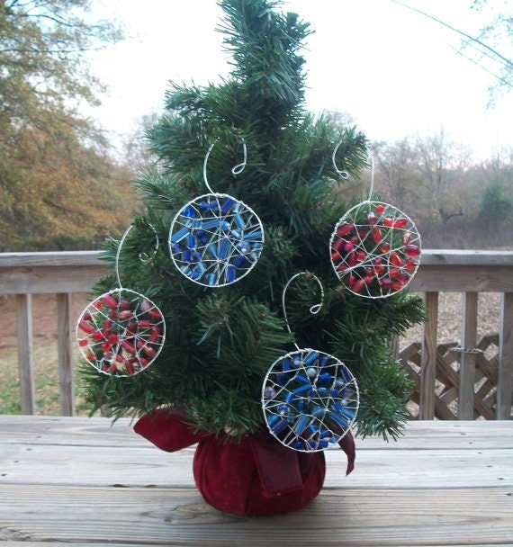 2 Beaded Ornaments