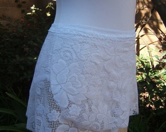 Dance Ballet-  Wrap Skirt  in Large White Lace Pattern