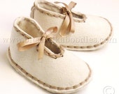 Sheepskin Baby Slippers with Sheepskin Innersoles for Newborn to 18 Month Babies