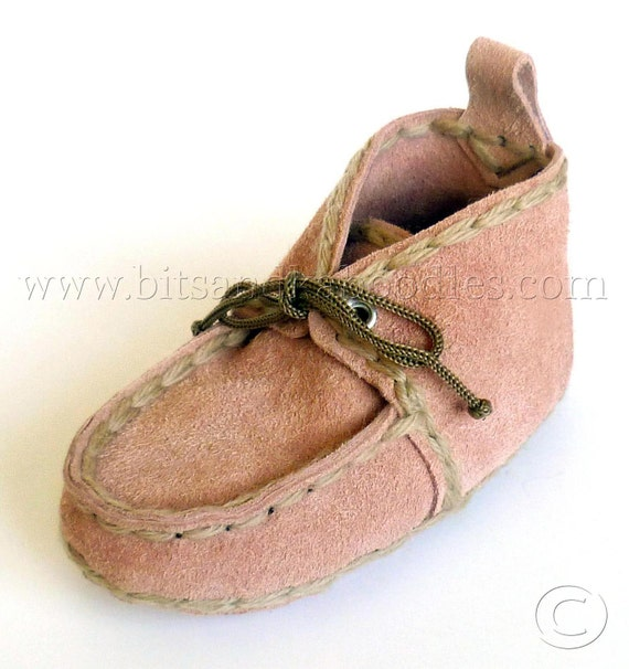 Soft Sole Suede Leather Moccasins for Toddlers 1-3 Years of Age