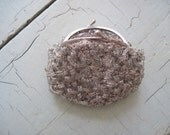 Vintage Silver Crochet Change Purse