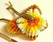 Chinese Knot Butterly Bookmark - Rainbow Yellow
