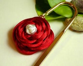 Chinese Knot Red Rose Bookmark - reserved for Tracey