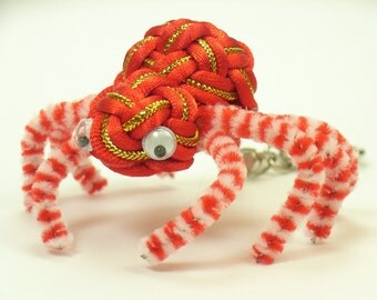 Chinese Knot Spider Keychain - RED