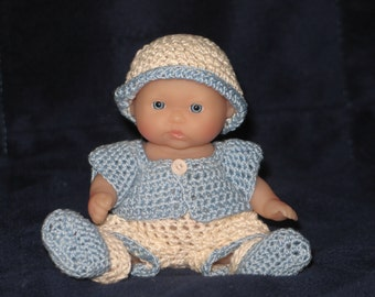 "5"" doll short/sweater set of 5 pieces"