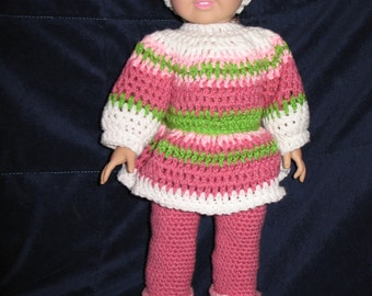 """5 piece ski outfit for 18""""/American Girl Dolls"""