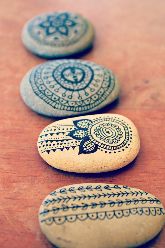 FOR LAUREN | Indian Ink Zen Stones