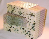 Lavender Love Glycerin Soap - BIG Bar - At Least 10 ounces - Cocoa Butter and Olive Oil Glycerin Soap with Crushed Lavender and Chamomile