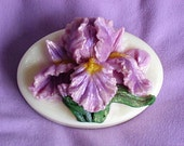 Purple Iris Glycerin Soap - Fragrant Hyacinth Scent - Cocoa Butter and Olive Oil Soap
