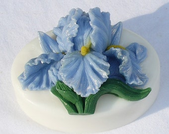Blue Iris Glycerin Soap - Too Pretty to Use - But You'll Love It If You Do - Fragrant Hyacinth Scent