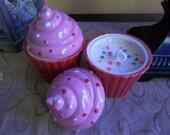 beautiful jumbo cupcake candle cake scent
