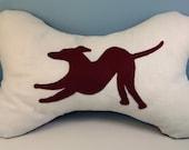 Greyhound Applique Cushion