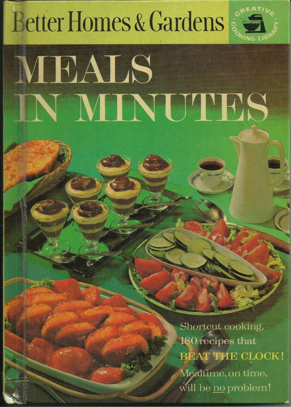Items Similar To Vintage Cookbook 1963 Meals In: better homes amp gardens recipes