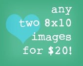 SALE Any two 8x10 images for 20 dollars.  Inspiring Modern Vintage Photographic Prints.