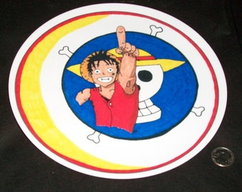 Fun to Use Mealtime Anime 10 Inch Collector Plate - One Piece Luffy