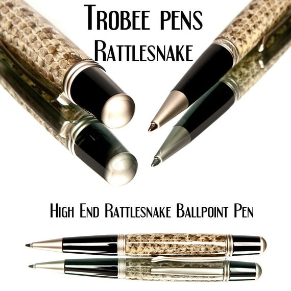 Rattlesnake Skin Ballpoint Pen Handmade Rattle snake ball point pen