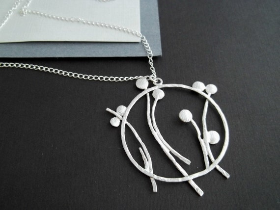 Dandelion Necklace - Dandelion Jewelry, Flower Necklace, Sterling Silver, Gifts For Her
