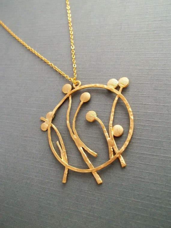 Dandelion Necklace, GOLD FILLED CHAIN