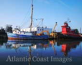 Chincoteague Boats Nature Photo Greeting/Note Card or Photograph