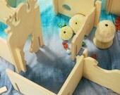 Atlantis Building Set Manzanita Modular Walls, handmade wooden waldorf toy open ended play set